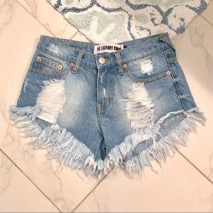 The Laundry Room Pistols cut off jean shorts